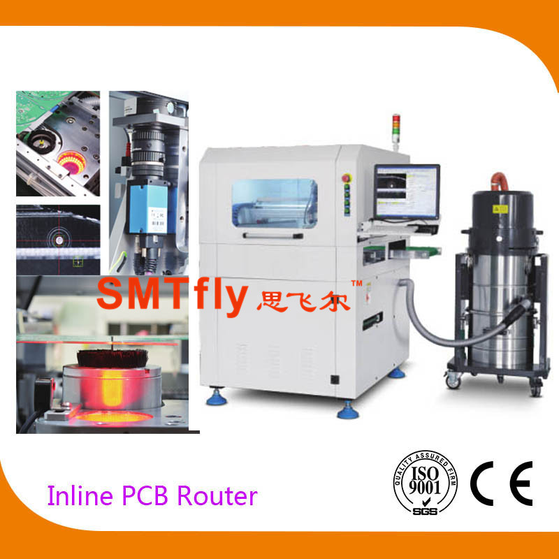 Online PCB Router Machine with PCB Panels with Milling Joints, SMTfly-F03